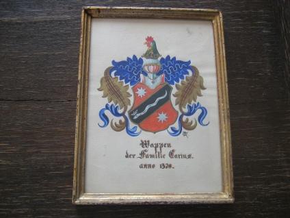 Heraldik Wappen der Familie Darius anno 1370 handgemalt vintage wunderschön