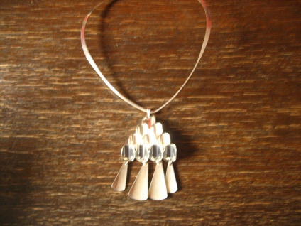 sehr eleganter Halsreif als Kette für Anhänger Choker edle Form 925er Silber NEU - Vorschau 4