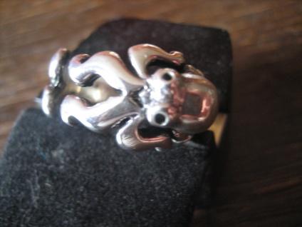 prächtiger maritimer Ring Krake Oktopus Tintenfisch 925er Silber für Piraten - Vorschau 3