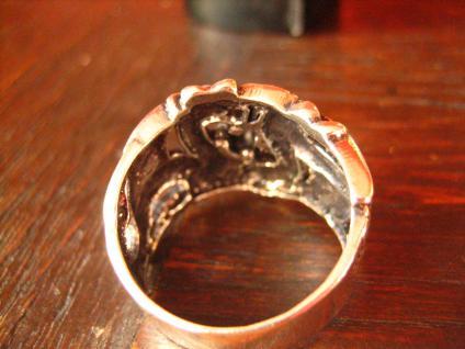 exklusiver Ring Drache 2 Drachen Double Dragon Gothic 925er Silber et Nox RG 65 - Vorschau 4