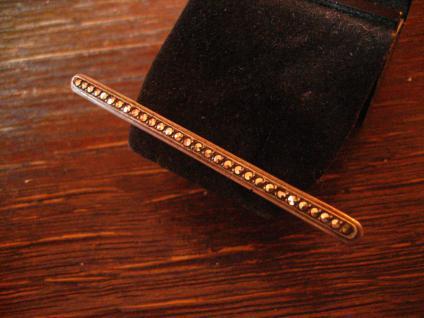 zeitlos elegante Art Deco Markasit Krawattennadel Stabnadel Brosche 835er Silber - Vorschau 3