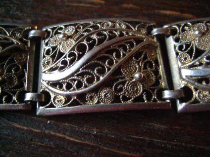 prächtiges breites Jugendstil Armband 835er Silber 19, 5 cm Handarbeit Filigran - Vorschau 2