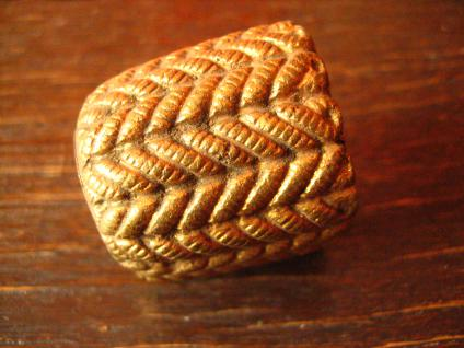 Schnurgewicht Gewicht Vorhang Schnur Kordel Klingelzug Zugschalter Messing antik - Vorschau 1