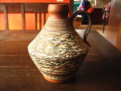 70er Jahre Kult - ausgefallene Vintage Designer Vase Terra Sigillata Stil
