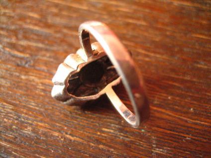 herrlicher Art Deco Onyx Markasit 925er Silber Ring Schiffchenring Rg 17, 2 / 54 - Vorschau 4
