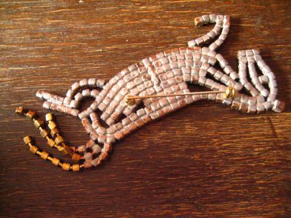 opulente Strass Brosche Pferd Hengst aufsteigend Alt Gablonz Vintage - Vorschau 3
