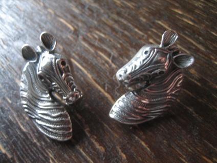 schöne plastische Zebra Ohrringe Stecker Ohrstecker lebensecht 925er Silber neu