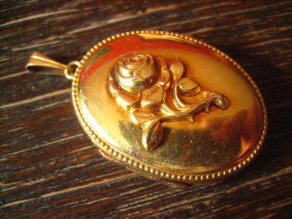 bezaubernder Jugendstil Medallion Anhänger Rose gold Double in Feingold Farbe - Vorschau 2