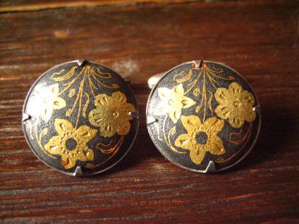ausgefallene elegante Manschettenknöpfe 800er Silber Toledo maurischer Stil RAR