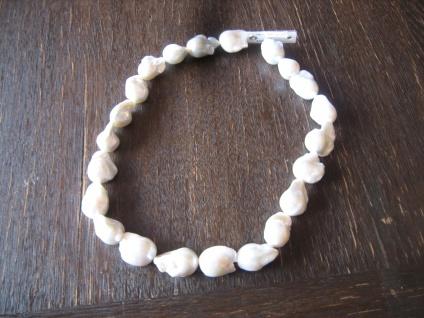 prächtige Unikat Perlenkette riesige Barockperle AAAA Naturweiß 925er Silber NEU
