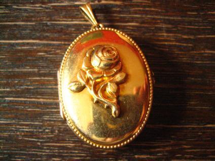 bezaubernder Jugendstil Medallion Anhänger Rose gold Double in Feingold Farbe