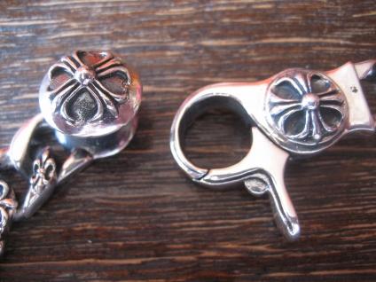 massives edles Herren Armband Fleur de Lys Lilie 925er Silber 64 gr 22 cm lang - Vorschau 3