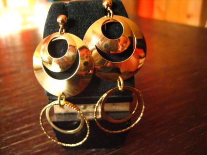 herrliche lange Statement Ohrringe Hänger Chandeliers 925er Silber vergoldet NEU - Vorschau 3