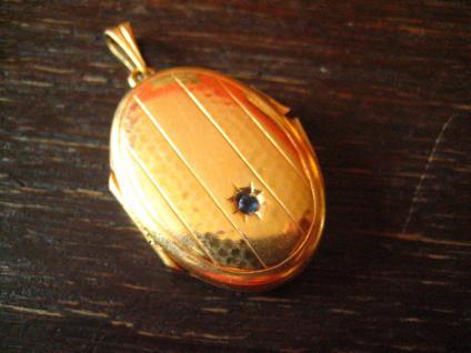 klassischer nostalgischer Jugendstil Medallion Anhänger gold Doublé für 2 Fotos - Vorschau 4