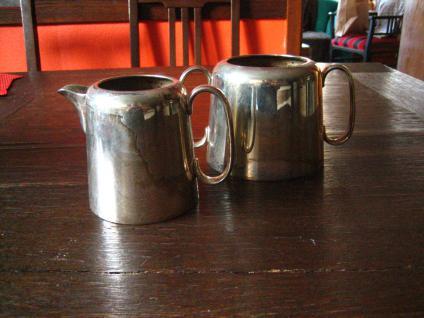 zeitloses Hotelsilber Milch Zucker Set Milchkännchen Zuckertopf silber Sheffield