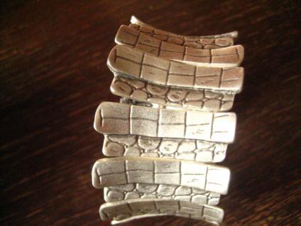 ultra geiler Statement Armreif Schlangen Muster Designer Leonardi Arte silber