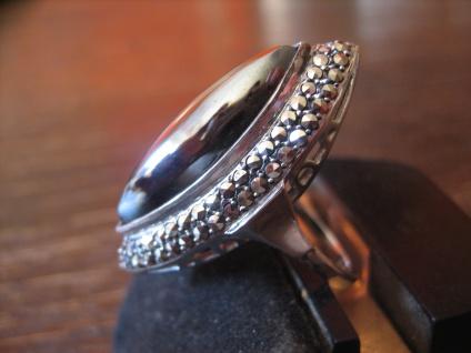 prächtiger Art Deco Markasit Ring Schiffchenring 925er Silber TOP Zustand RG 56 - Vorschau 2