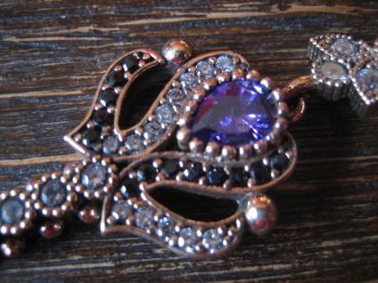 Kronjuwelen gesucht ? prächtiger Anhänger Schlüssel Liebe Herz 925er Silber gold - Vorschau 3