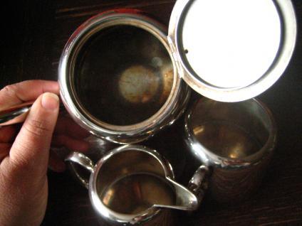 3teiliges Hotelsilber Teekanne Kaffee Zuckerdose Milchkanne silber pl Sheffield - Vorschau 5