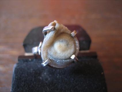 kleiner feiner Vintage Ring Sandrose Wüstenrose 925er Silber Unikat RG 52 / 53