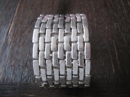 exklusiver klassischer Statement Armreif Armband Designer Leonardi Arte silber