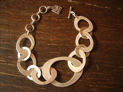 klassische Statement Armband Armkette mit Pfiff Designer Leonardi Arte silber