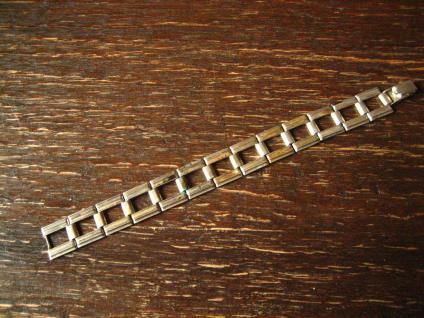 edles breites Art Deco Armband schlicht elegante Form 835er Silber 17 cm lang