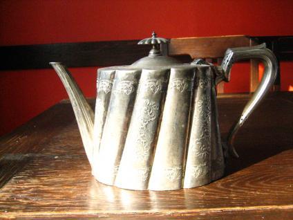 überreich verzierte Jugendstil Teekanne silver pl Shabby Chic Sheffield England