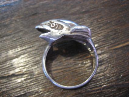 wunderschöner Ring spielender Delfin Delphin Wal 925er Sterling Silber 16, 5 mm