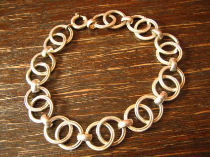 Exklusives formschönes breites Art Deco Armband 835er Silber 19, 5 cm lang