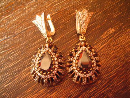 Kronjuwelen gesucht ? opulente Ohrringe Hänger 925er Silber Zirkonia brillant - Vorschau 1