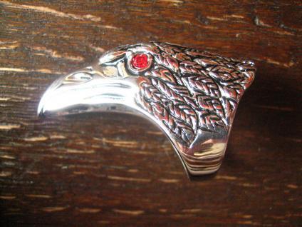 mächtiger Adler Kopf Adlerkopf Ring Edelstahl neu RG 60 / 20 mm Biker Gothic