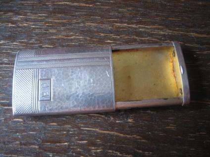 elegantes Art Deco Streichholzetui Etui Streichholzschachtel 800er Silber edel - Vorschau 2