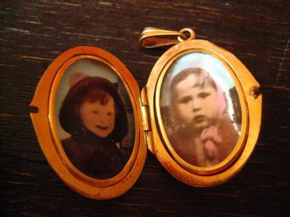 klassischer nostalgischer Jugendstil Medallion Anhänger gold Doublé für 2 Fotos - Vorschau 5