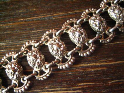 feines antikes Armband 835er Silber Rosetten edler Trachtenschmuck Tracht Dirndl