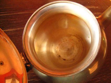 super tolle güldene Jugendstil Teekanne gold Teapot tolle bauchige Aladin Form - Vorschau 4