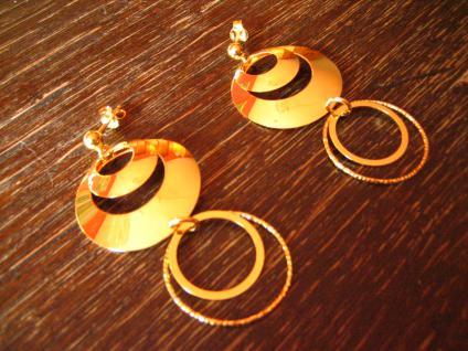 herrliche lange Statement Ohrringe Hänger Chandeliers 925er Silber vergoldet NEU - Vorschau 2