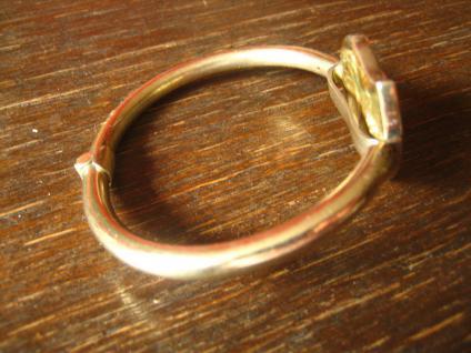 exklusiver vintage Designer Armreif Armspange 925er Silber vergoldet mit Ammonit - Vorschau 2