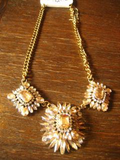opulentes Designer Statement Collier Kette gold Strass mit viel BlingBling