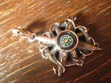 großer maritimer Anhänger beweglicher Kompass Edelstahl Et Nox neu ausgefallen