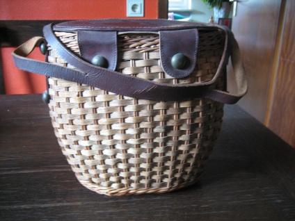 ausgefallene Vintage Korbtasche Korb als Tasche 60er Jahre Sixties Dirndl Körbchen - Vorschau 2