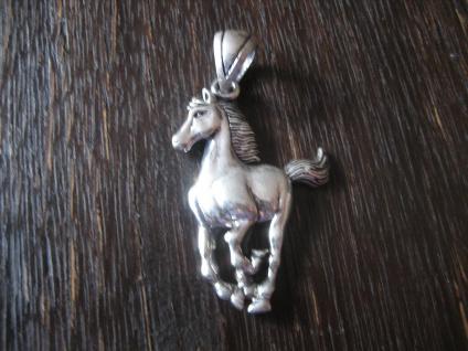traumhafter großer Anhänger galoppierendes Pferd Pony Hengst Stute 925er Silber