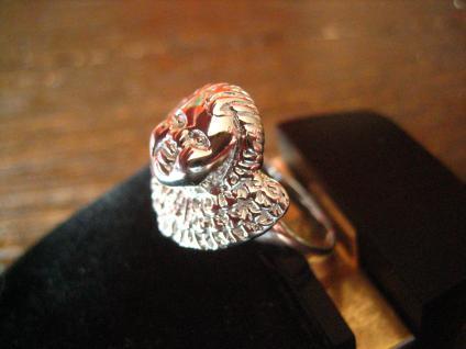 zuckersüßer Ring Barock Engel Putto Barockengel 925er Silber NEU 18, 75 mm RG 59 - Vorschau 3