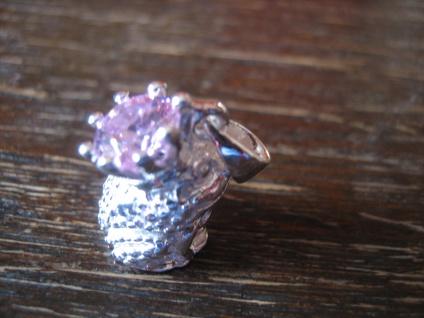 zuckersüßer Anhänger Frosch Unke Kröte mit Krone Froschkönig 925er Silber NEU