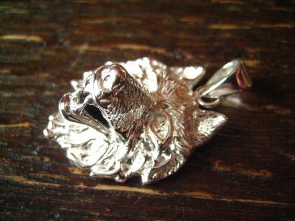 starker Wolf Wolfskopf Anhänger massiv 925er Silber plastisch gearbeitet - Vorschau 2