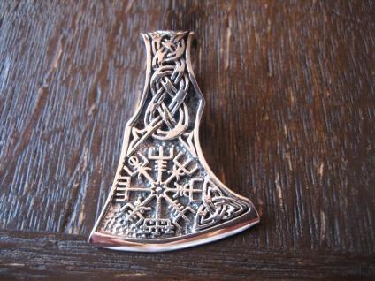 großer Anhänger Axt Beil mit Wikinger Kompass Celtic 925er Silber neu et Nox