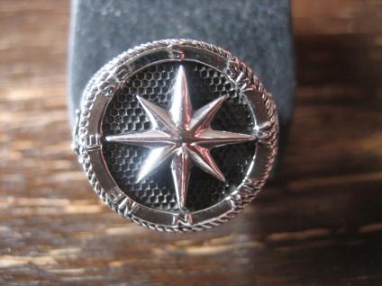 maritimer Herrenring Ring Kompass Anker Steuerrad 925er Silber neu et Nox RG 65 - Vorschau 1