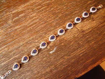 Kronjuwelen gesucht ? bezauberndes saphir blau Zirkonia Armband 925er Silber A
