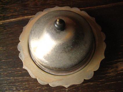 nostalgische Servierschale mit Haube silber pl Shabby Chic Muffin Dish 3teilig - Vorschau 2