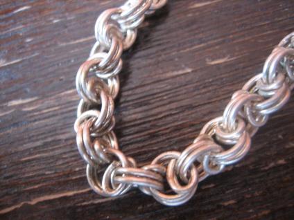 sehr edle Art Deco Halskette Kette Collier im Verlauf 835er Silber 49 cm lang